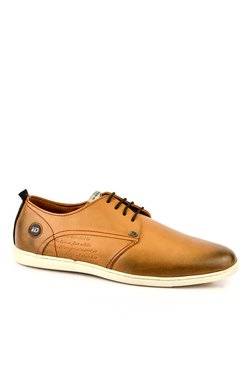 ID Tan Derby Shoes