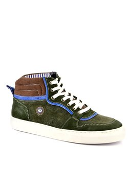 ID Olive & Blue Ankle High Sneakers