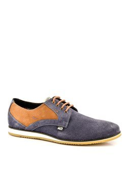 ID Navy & Tan Derby Shoes