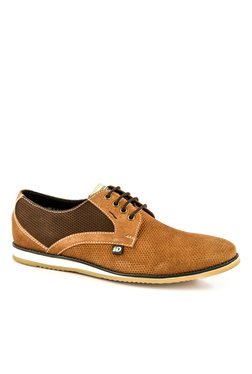 ID Tan & Brown Derby Shoes
