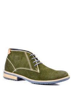 ID Olive Derby Boots