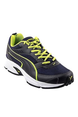 1d6a1edec1998b Puma Atom III DP Peacoat   Limepunch Running Shoes