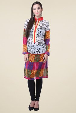 Drapes & Silhouettes Multicolor Printed Cotton Kurti