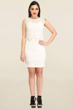Cation Off White Lace Dress