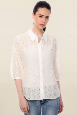 Cation Off White Lace Shirt