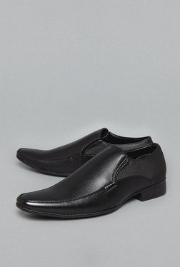 Azzurro by Westside Black Slip On Shoes