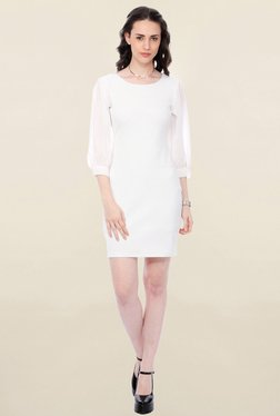 Cation Off White Striped Dress