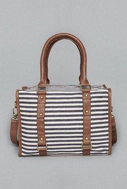 Westside Navy & White Ekta Satchel Bag