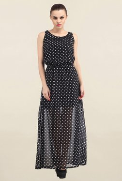 Cation Black Polka Dot Dress