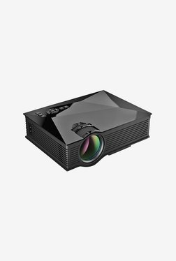 Unic UC46 1200 Lumens LED Portable Projector (Black)