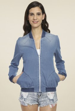 Love Genration Light Blue Full Sleeves Jacket