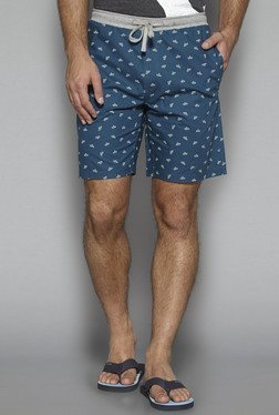 Bodybasics by Westside Teal Printed Shorts