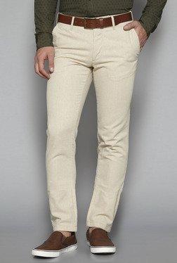 Ascot By Westside Beige Slim Fit Trousers