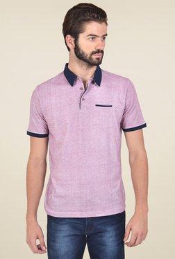 Club Fox Mauve Regular Fit Polo T-Shirt