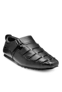 Teakwood Leathers Black Fisherman Sandals - Mp000000001377317