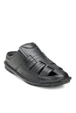 Teakwood Leathers Black Casual Sandals