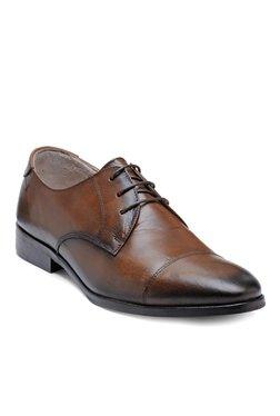 Teakwood Leathers Dark Tan Derby Shoes