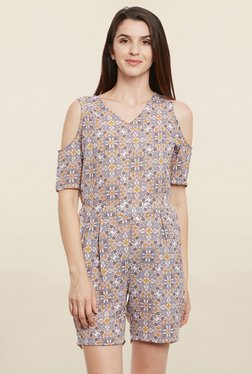 MEEE Multicolor Floral Print Playsuit