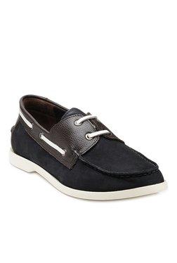 Teakwood Leathers Navy & Dark Brown Boat Shoes