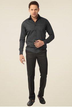 Club Fox Black Flat Front Trouser