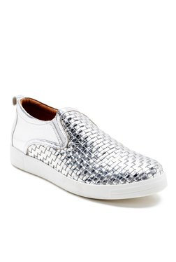 Red Tape Silver & White Plimsolls