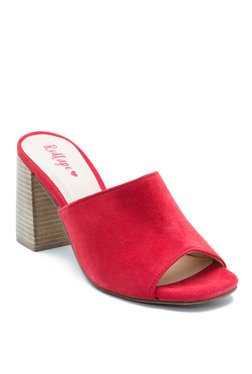 Red Tape Red Mule Sandals