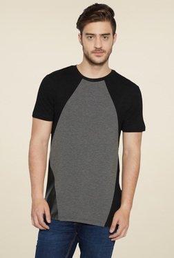 Globus Black Round Neck Short Sleeves Cotton T-Shirt