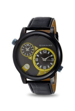 Giordano 60058 DTLM Yellow Analog Watch For Men