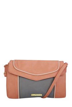 Caprese Tessa Pastel Pink Piping Detail Sling Bag