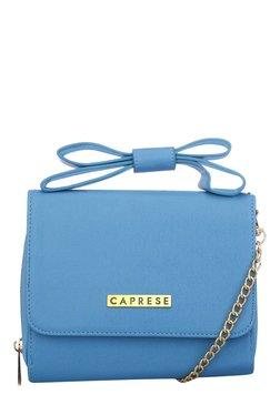 Caprese Grete Blue Blow Detail Sling Bag