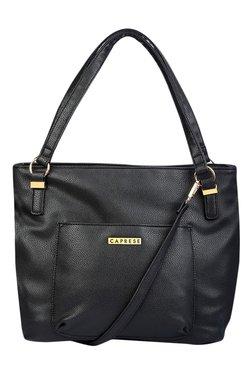 Caprese Andrea Black Solid Shoulder Bag