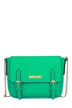 Caprese Erica Green Solid Sling Bag
