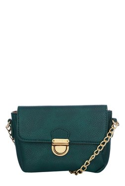 Caprese Paris Emerald Solid Flap Sling Bag