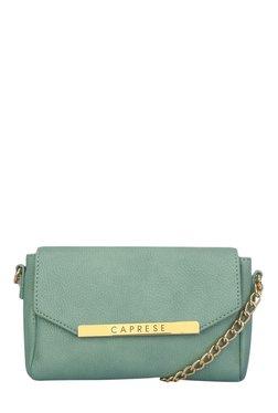 Caprese Phoenix Mint Green Solid Sling Bag