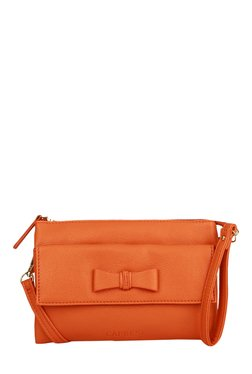 Caprese Lina Orange Bow Detail Sling Bag