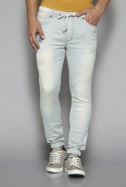 Nuon by Westside Blue Distressed Joggers