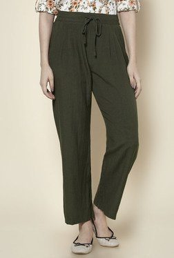 Zudio Olive Solid Pants
