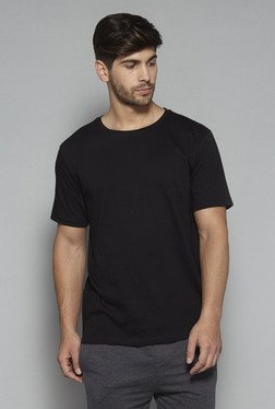 Nuon by Westside Black Slim Fit Crewneck T Shirt