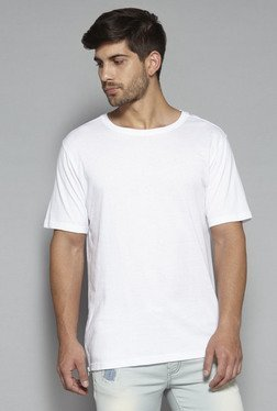 Nuon by Westside White Slim Fit Crewneck T Shirt
