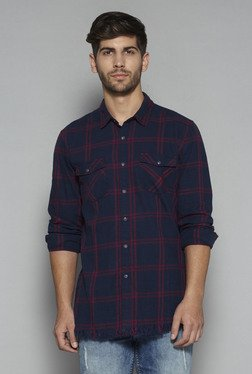 Nuon by Westside Navy Checks Shirt