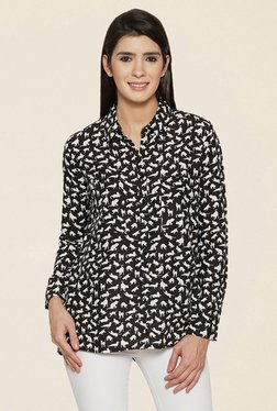 Globus Black Printed Shirt