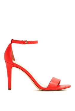 Aldo Camy Red Ankle Strap Stilettos