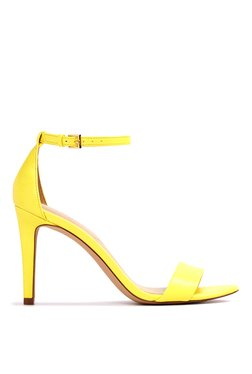 Aldo Camy Light Yellow Ankle Strap Stilettos