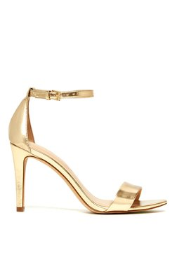 Aldo Camy Golden Ankle Strap Stilettos