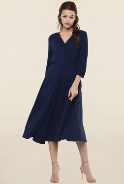 Femella Navy Regular Fit Dress