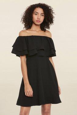 Femella Black Off Shoulder Dress