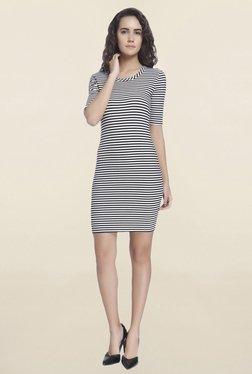 Vero Moda White & Black Striped Bodycon Dress