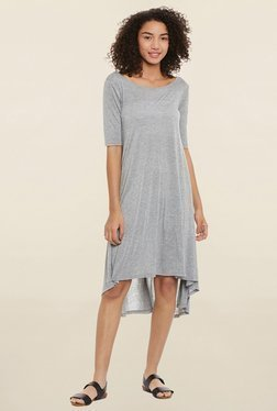 Femella Grey Textured Dress