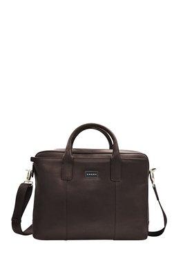Cross Cordoba Oak Brown Solid Messenger Bag