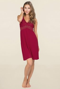 Hunkemoller Burgundy Lace Night Dress